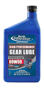 Star brite,Pro Star, High Performance Gear Lube,Synthetic Blend,80W90