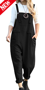 Women Casual Loose Baggy Tapered Jumpsuits