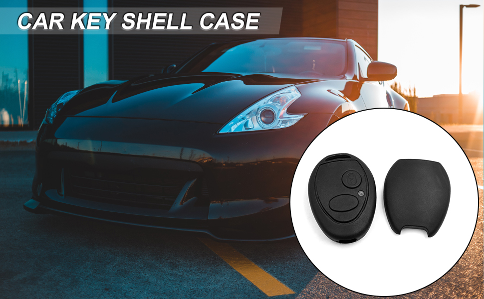uxcell Car New 2 Buttons Key Fob Remote Control Case Shell Replacement N5FVALTX3