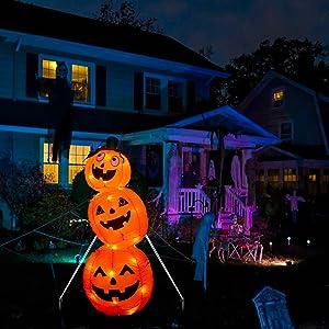 EAMBRITE 4FT Halloween Inflatable Pumpkin