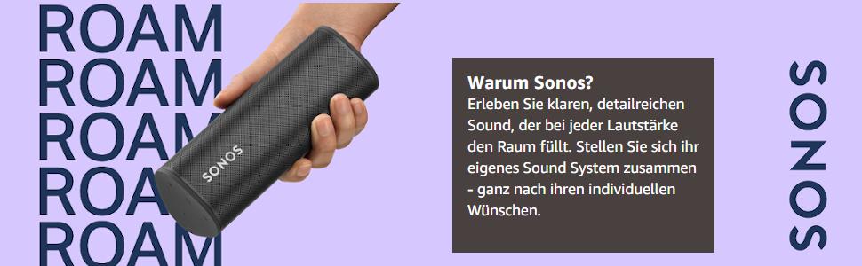Sonos;Roam;Sound System;Black;Schwarz
