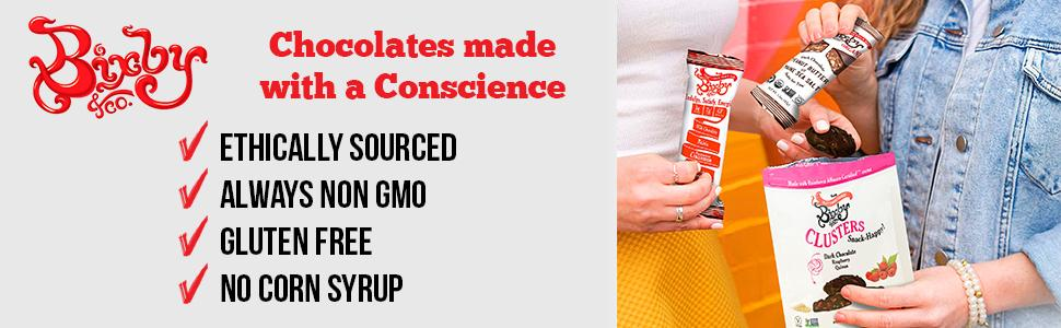 Bixby Chocolates made with a Conscience