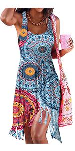 women cover ups casual sleeveless beach summer dresses