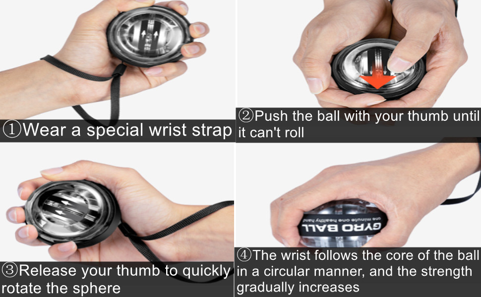How to activate the wrist gyro ball?