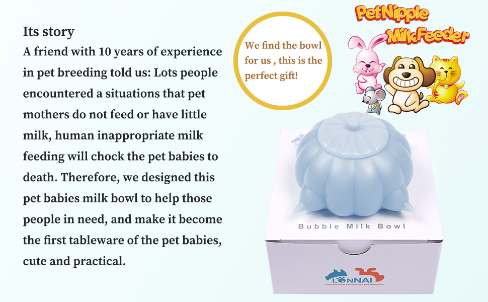 new born dog bubble feeder