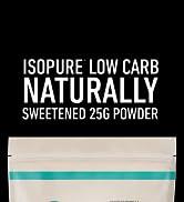 isopure naturally sweetened protein powder low carb keto no sugar no fat
