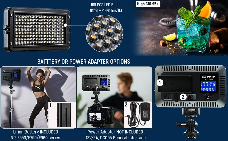 VIDEO LIGHT WITH BATTERY