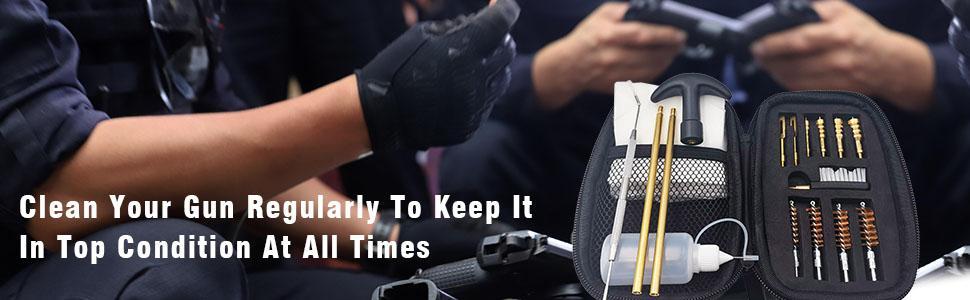 Clean your gun regularly