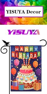 The photo of YISUYA Happy Birthday Flag