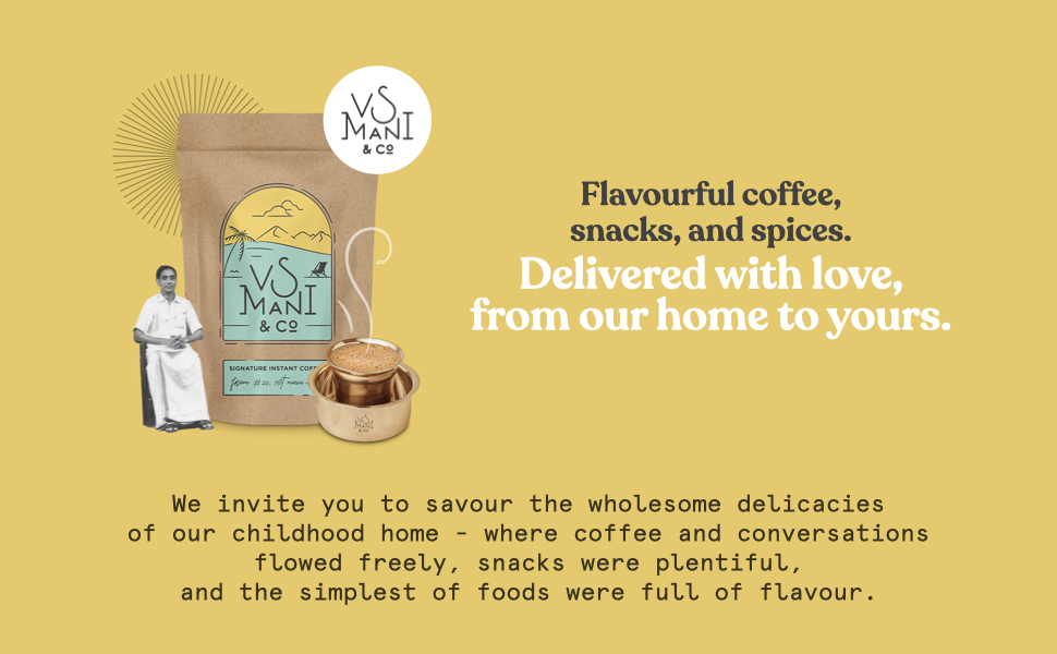 VS Mani Flavourful coffee, snacks and spices.