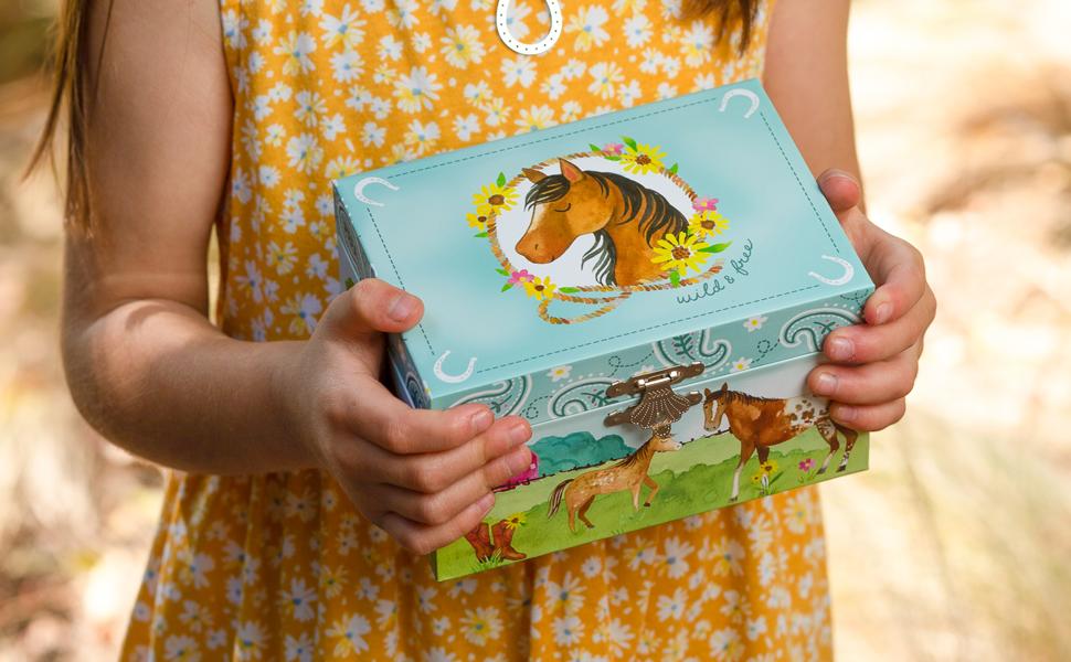 horse jewelry box for little girls jewelkeeper