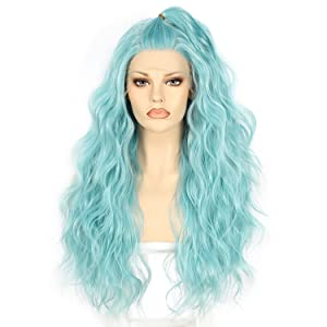 Lake blue wigs pre plucked