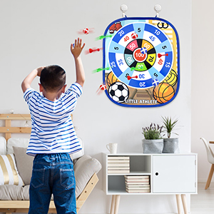 Hang the board on the wall to toss darts