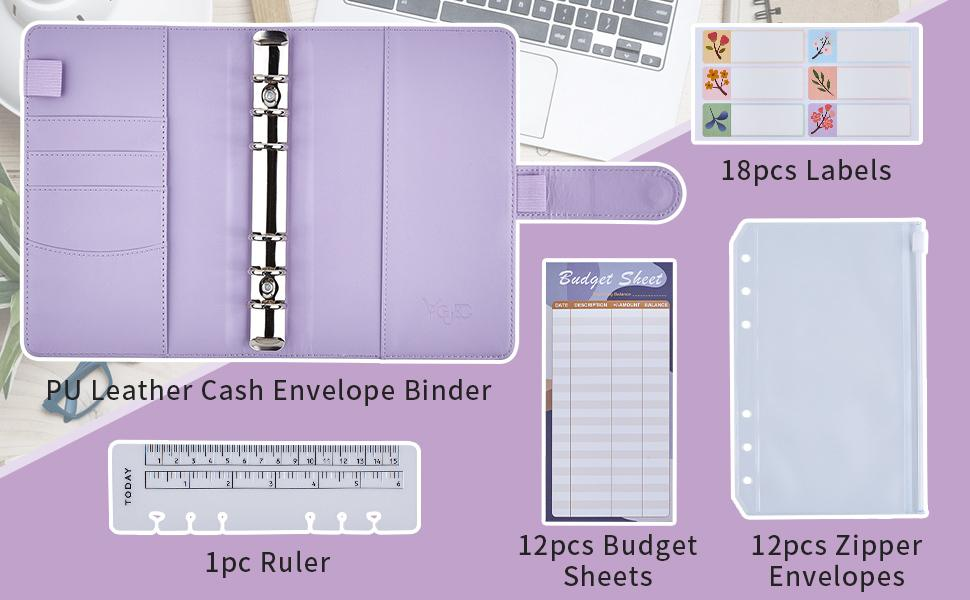 what will you get monthly bill tracker 12 budget sheets zipper envelope 18 labels 1 ruler bookmark