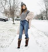 ALEADER winter boots for women