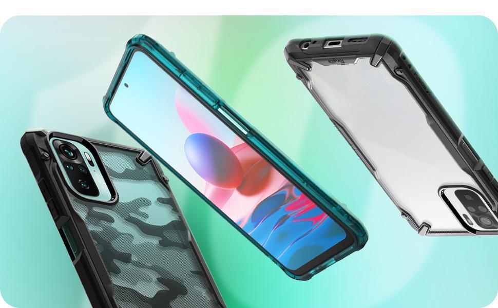 Ringke Fusion-X Compatible with Xiaomi Redmi Note 10 Case, Redmi Note 10S Case