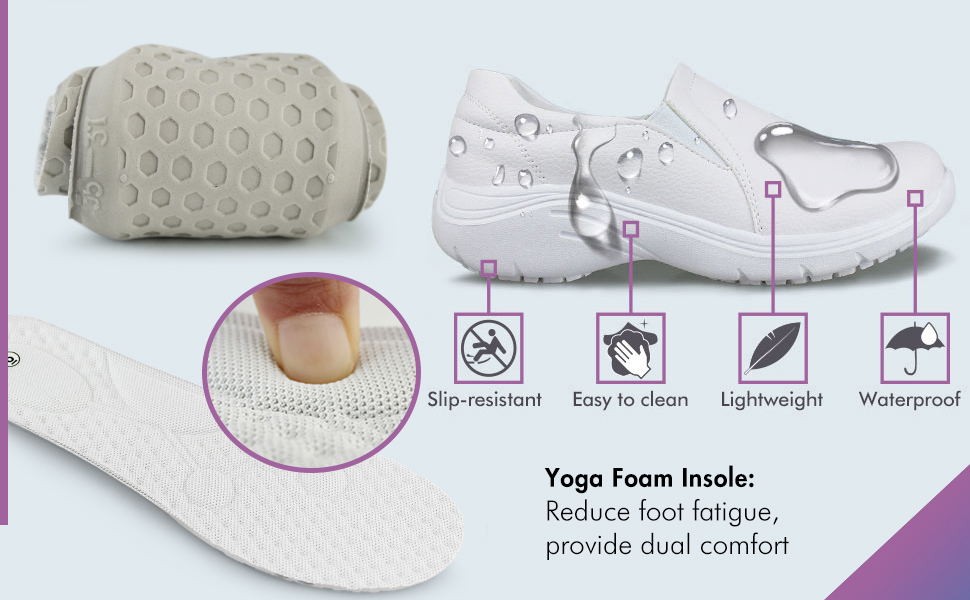 Soft foam padding for all day comfort