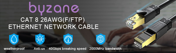 byzane Cat 8 Ethernet Cable