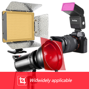 Color filters are used for lighting effects and color correction
