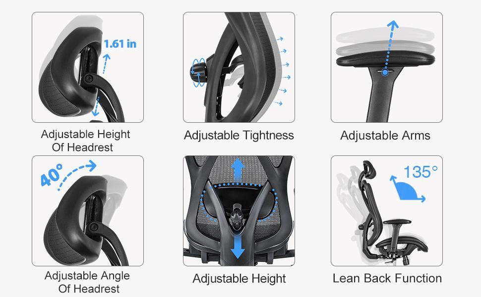 ergonomic office chair lumbar support