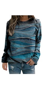 graphic sweatshirts for women vintage Blue