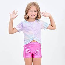 MODAFANS Little Big Girlsamp;amp;#39; Sparkle Dance Gymnastics Shorts