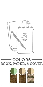All-weather 4x6 kit: Notebook, Cordura Fabric Cover, All-Weather Pen