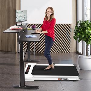 2-in-1 walking treadmill for office