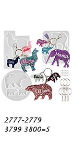 Keychain Charms Molds