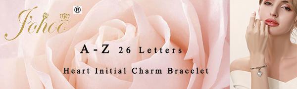 initial bracelet for women girls