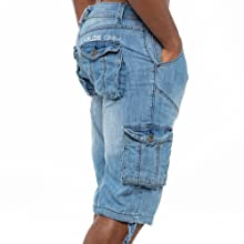 mens shorts, cargo shorts, combat shorts, mens denim shorts, blue shorts, shorts with pockets, kruze