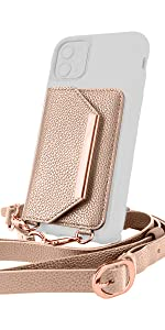 attachable wallet with strap