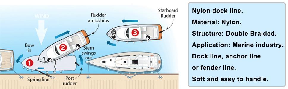 Double Braided Nylon Docking Line