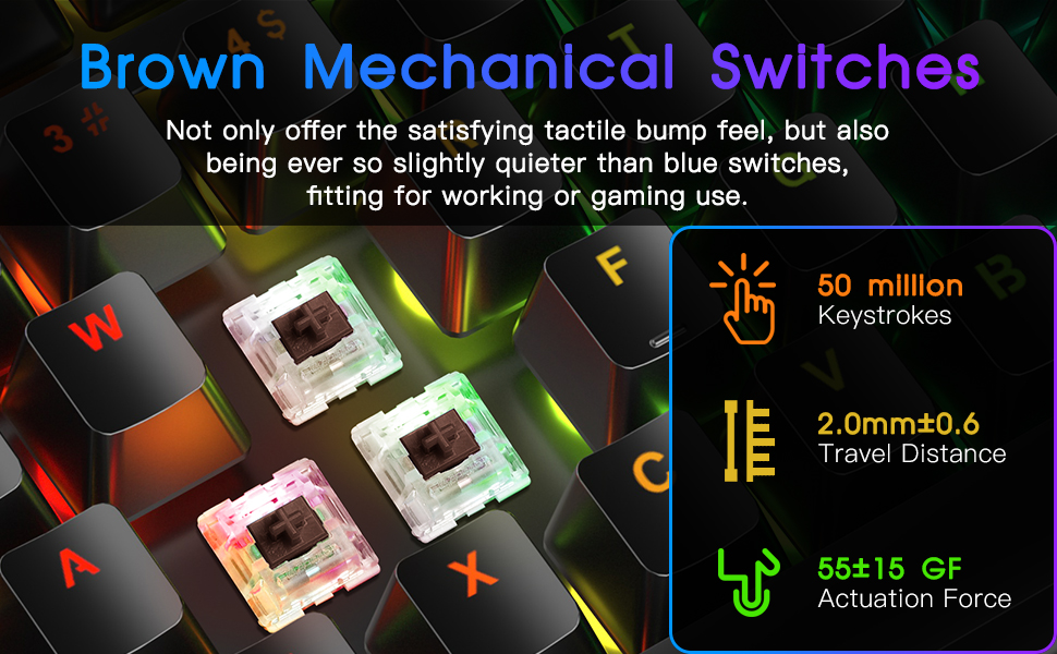 BROWN MECHANICAL SWITCHES