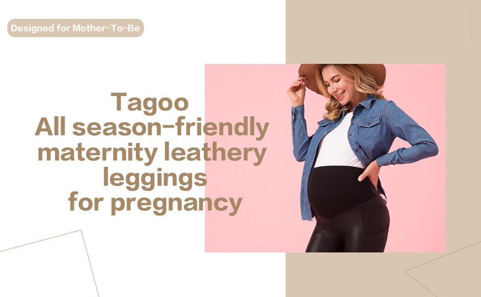 maternity leather leggings