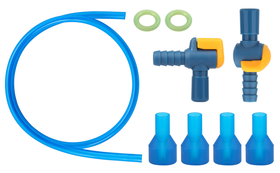 Suitable for most Hydration Bladder, used to replace Mouthpiece Cover, tube and shut-off valves