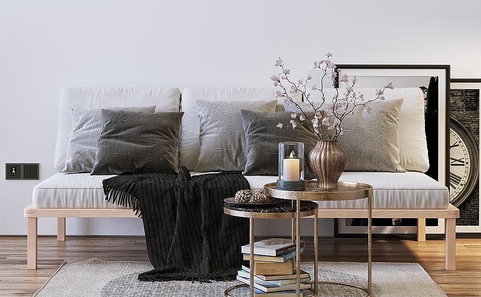 lit bois massif double haut simple futon bed