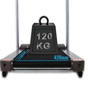Courroie élargie & Capacité de charge de 120 KG