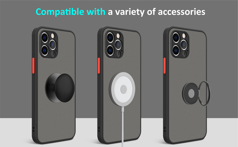 compatible with iphone 12 pro case with screen protector