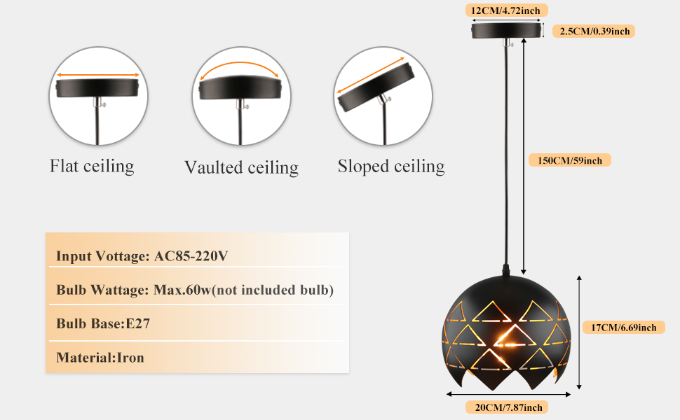 Hollow Pendant Light