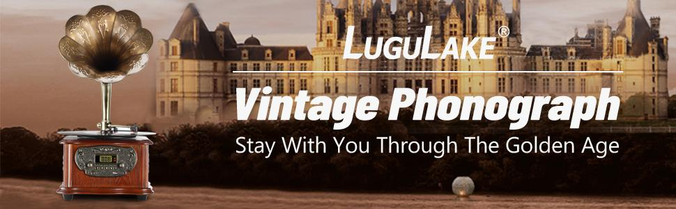 LuguLake Vintage Record Player is the best gifts for audiophiles and music lovers.