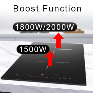 boost function electric stovetop
