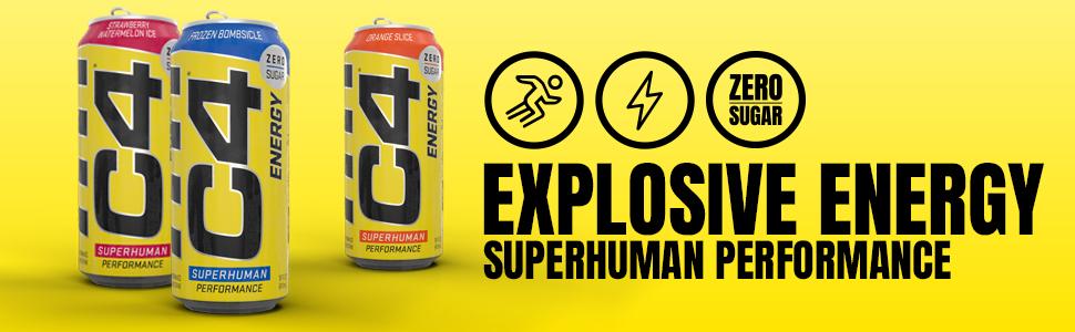 C4 Energy - Superhuman Performance Preworkout Drink