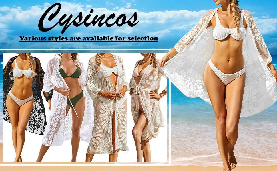 Lace Kimono Cardigan Long Blouse Tops Outwear