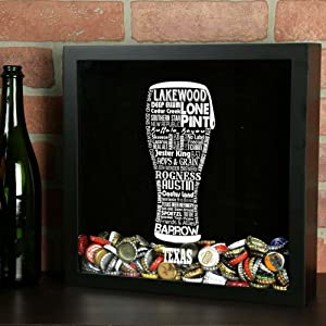 Torched Beer Typography Shadow Box