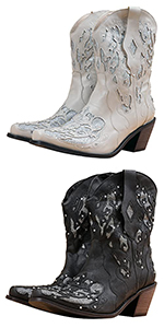 Women Glitter Inlay Crystals Cowgirl Boots