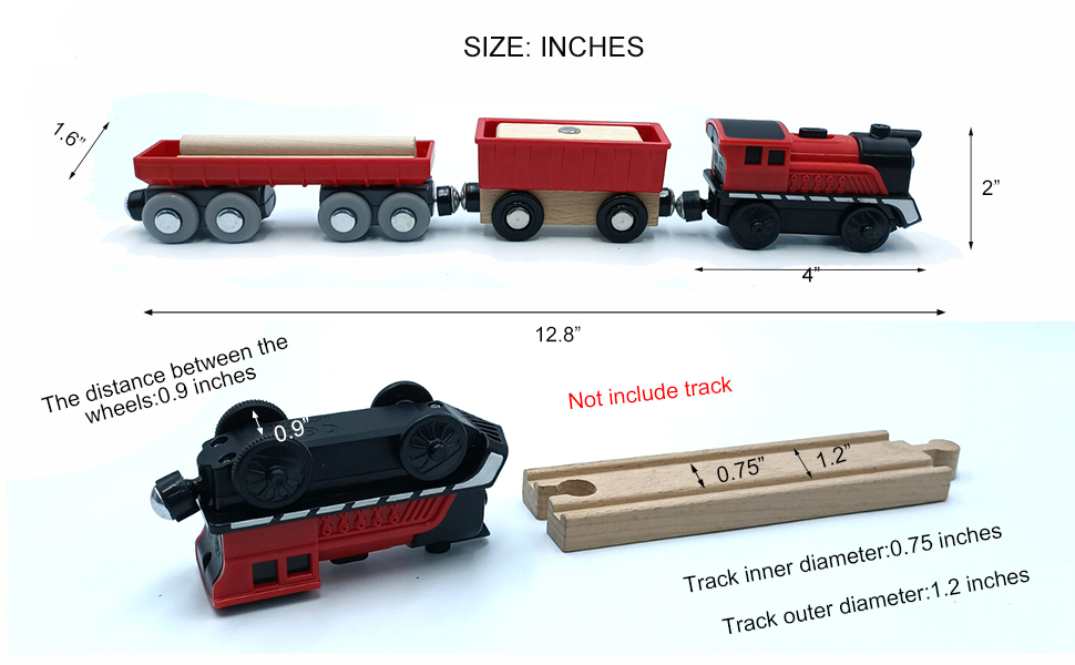 Battery Operated Cargo  Red Train