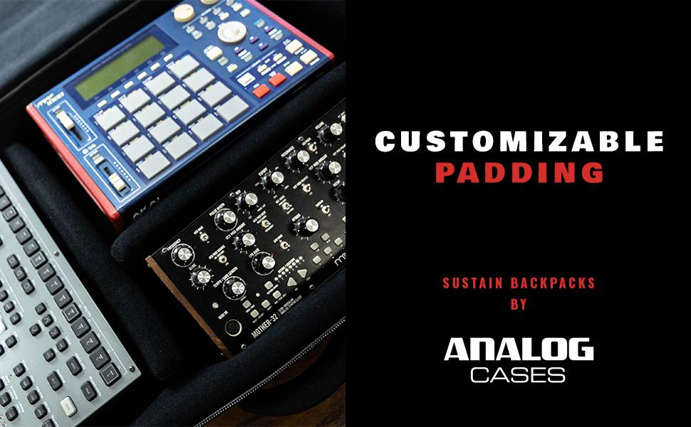 SUSTAIN Backpacks by Analog Cases. Customizable Padding