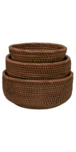 bread baskets for serving shallow basket bowl for keys fruit storage counter top organizing