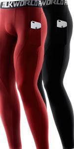 Men's 1~3 Pack Compression Pants